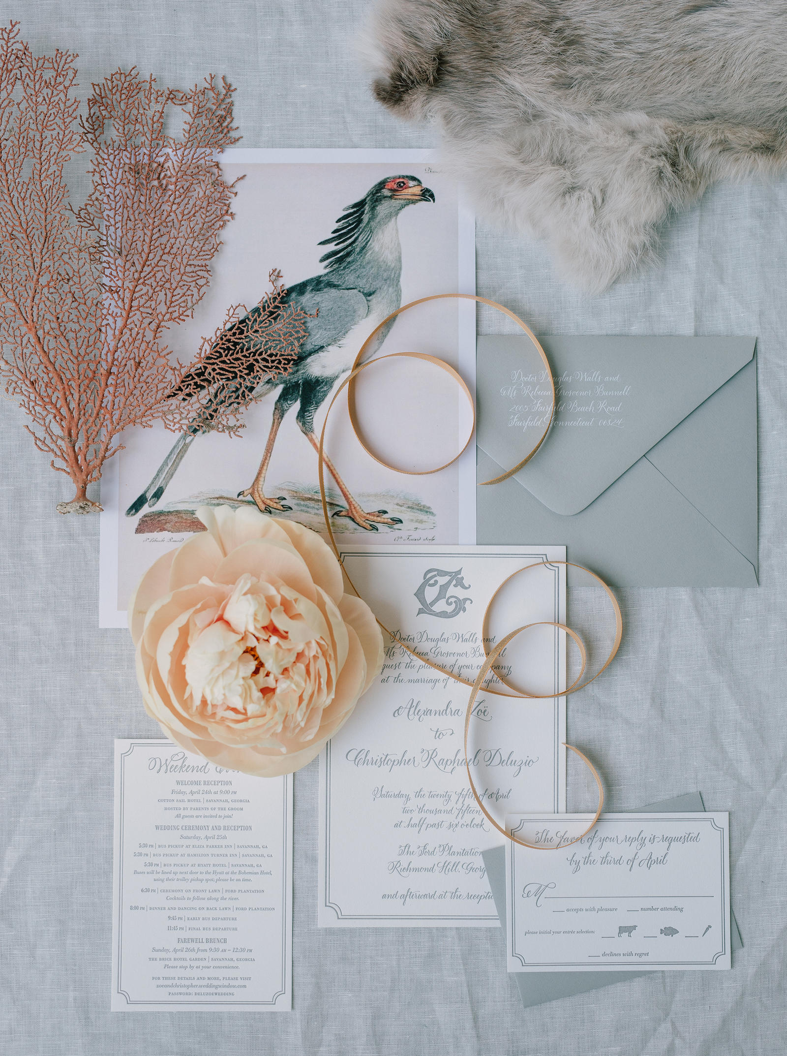Editorial Photography | Atlanta, GA | A picture of the invitation set for a wedding.