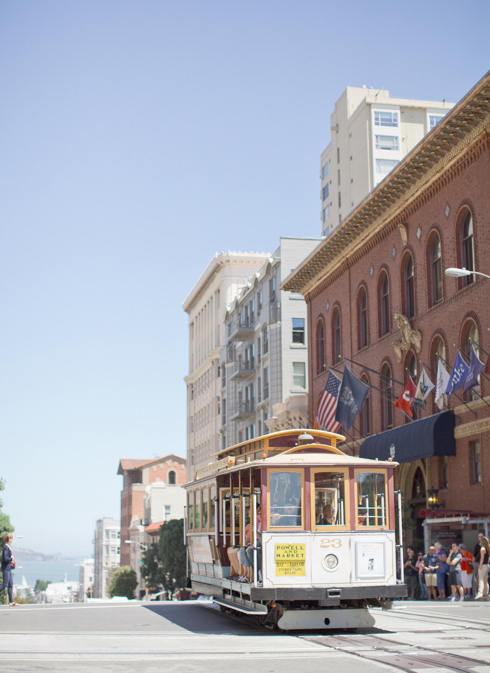 A street trolley in San Francisco.