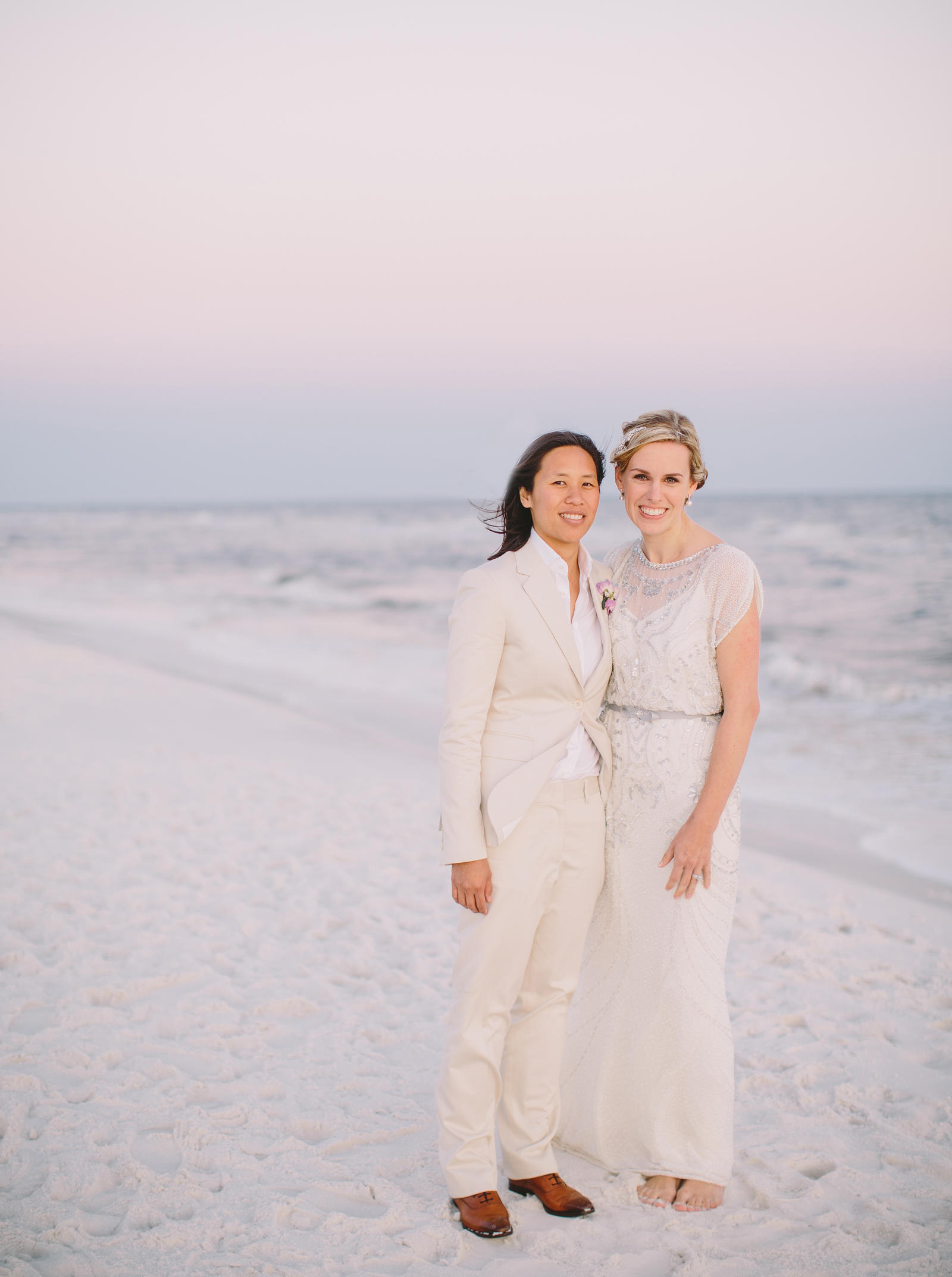 Wedding Photography | A bride and groom on the beach at Watercolor Inn, Florida