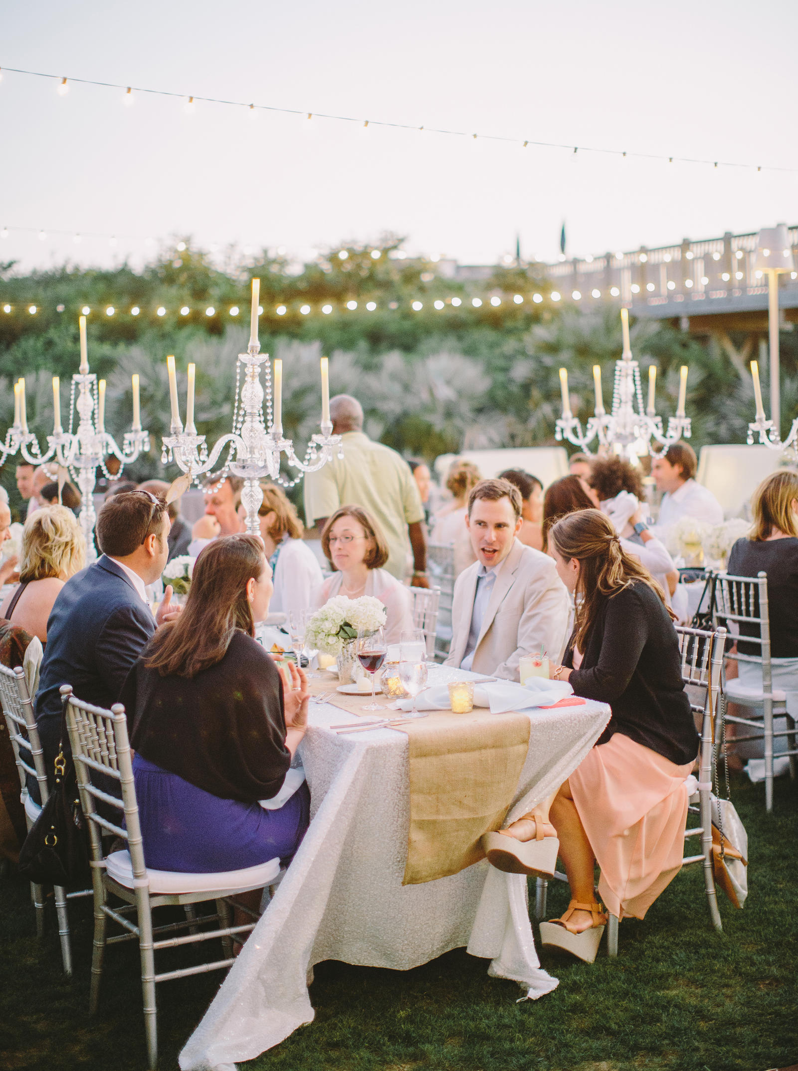 Wedding Photography | An elegant outdoor wedding reception.